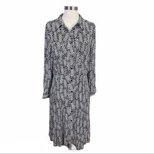 Who What Wear Domino Dots Button Down Dress